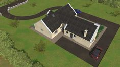 This Project consists of the construction of a family home and detached domestic Garage. My House Plans, House Layout Plans, House Layouts, House Designs Ireland, Cottage Extension, Bungalow House Design, House Roof, Next At Home, Irish