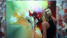 """Démonstration de peinture abstraite (8) Elisabeth - Toile """"Quintessence"""""""