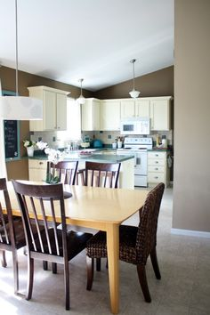 Painting Kitchens White.
