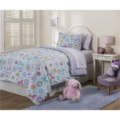 Mainstays Kids Unicorns Bed in a Bag Bedding Set