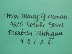 MARCY  Custom Wedding Calligraphy Envelope by KoiKalligraphia, $1.25