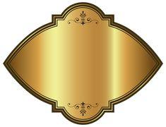 Золото Роскошные Шаблон Этикетки Клипарт Изображения