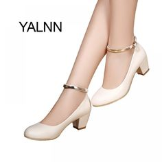 649d1f0d94 YALNN Office Leather High Heel Shoes for Women