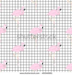 stock-vector-flamigo-on-tiled-background-seamless-pattern-491946661.jpg (450×470)