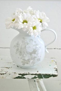 White chrysanthemums ~ ♥