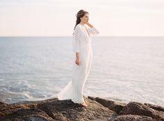 "Elizabeth Dye ""Dunaway"" gown   Once Wed: Romantic Seaside Wedding Ideas"