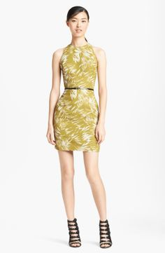 Jason Wu Botanical Print Racerback Crepe Dress | Nordstrom
