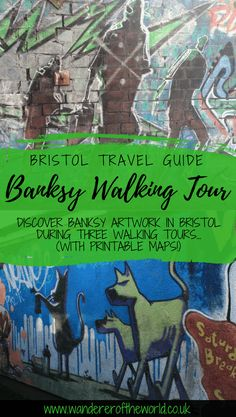 Fancy a self-guided Banksy walking tour in Bristol? Here are three different routes you could take and handy Banksy street art maps to help you do them! Bristol Map, Bristol Museum, Bristol Street, Banksy Work, Street Art Banksy, Banksy Graffiti, Walking Map, Walking Tour, New York Graffiti