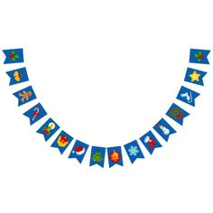 Cute Christmas Swallowtail Party Bunting Banner