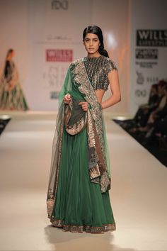 Designer Anand Kabra Bridal lehenga Autumn/Winter 2012 Collection. Find Similar Exclusive Laces and fabrics @ http://www.lacxo.com