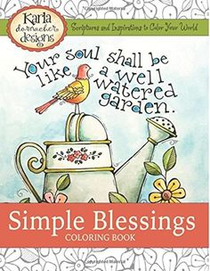 Adult Coloring Books Art Simple Blessings Beautiful Paperback 52 Pages Gifts US