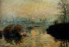 Claude Monet, Sunset at Lavacourt (1880)
