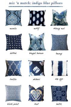 INDIGO Blue Pillow Obsessed - Erika Brechtel
