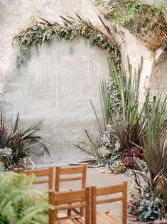 A wedding arch with minimal flowers! Ceremony Backdrop, Ceremony Decorations, Wedding Ceremony, Reception, Wedding Arches, Outdoor Decorations, Floral Wedding, Wedding Flowers, Boho Wedding