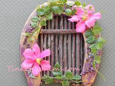 Horseshoe fairy door. Fairy garden miniature garden by TinkerWhims