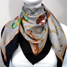 Authentic Vintage Hermes Silk Scarf Jockey by Philippe Ledoux RARE 1974