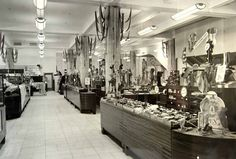 Lewis's department store in Liverpool. General view of the sales floor in the1960's