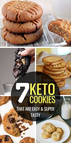 Craving cookies on the keto diet? Try these easy keto cookies. Some are no bake, others with peanut butter or cream cheese, yet all of them are DELICIOUS. Keto Cookies, Keto Peanut Butter Cookies, Keto Chocolate Chip Cookies, Chocolate Chip Recipes, Low Carb Cookies Recipe, Health Cookies, Almond Butter Snacks, Coconut Flour Cookies, Chocolate Cheesecake