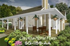 images of small country cottage easily choose house plans by seeing what this open floor plan will look like with house plan views. 3d House Plans, Porch House Plans, Affordable House Plans, Affordable Housing, Outdoor Rooms, Outdoor Decor, Cottage Plan, Screened In Porch, Open Floor