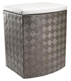 Vasketøjskurv VALDER B44xL35xH55cm grå | JYSK