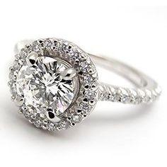 Halo Style 1 Carat GIA Diamond Engagement Ring