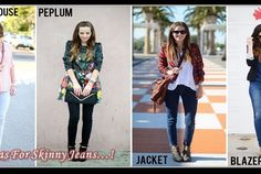 5 Stylish Tops To Pair Up With Your Skinny Jeans! (Posts by Andrew) High Fashion Outfits, Stylish Outfits, Trendy Fashion, Girl Fashion, Stylish Tops, Trendy Tops, Formal Looks, Casual Looks, Long Sleeve Peplum Top
