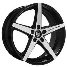 "20"" 22"" Lexani Wheels R-Four Black Machined Rims *Free Shipping #AudioCity"