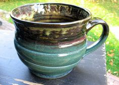 #pottery Cup for Work-  Earth Mug Fits Warmer by sheaclay on Etsy, $25.00