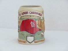 St Louis Cardinals Stein by Major League Baseball Sportsteins
