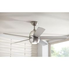 home decorators collection windward iv 52 in brushed nickel ceiling fan the home depot bedroom pinterest ceiling fan ceilings and ceiling
