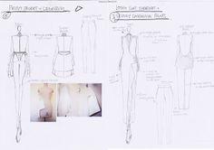 Fashion Sketchbook - fashion design sketches & design development - the fashion designer's creative process // HAN GU . UNI