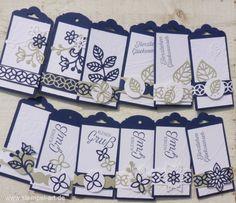 Minikärtchen nach StempelART, Stampin up, Blütenpoesie, Blühende Worte…