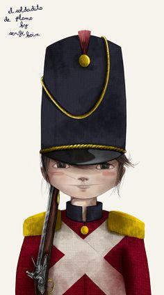 El Soldadito de Plomo (Personaje 1) #sergiboix #ilustracioninfantil #ilustracion #illustration #childlikeillustration