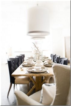 great dining room.