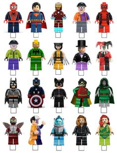 20 X LEGO SUPERHERO SPIDERMAN BATMAN STAND UP EDIBLE WAFER PAPER CARD TOPPERS