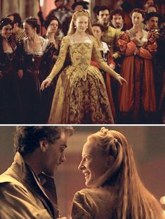 Elizabeth (1998) Starring: Cate Blanchett as Elizabeth I of England and Joseph Fiennes as Robert Dudley, 1st Earl of Leicester.
