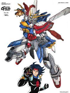 ArtStation - 「爆熱」, ZHANG YIFAN Arte Gundam, Gundam Wing, Gundam Art, Mobile Fighter G Gundam, Gundam Mobile Suit, Gundam Tutorial, Pokemon Dragon, Gundam Toys, Robot Cartoon