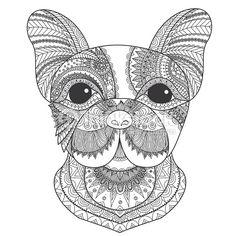 Vector Art : French bulldog