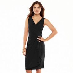 Chaps Surplice Faux-Wrap Dress - Women's Kohl's  59.50