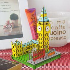 """cardboard craft kit  """"Big Ben"""" 3D Puzzle,Papercraft, Childrens Origami, kids Craft Kit,New gift by COCOhandsShop on Etsy https://www.etsy.com/listing/276271484/cardboard-craft-kit-big-ben-3d"""