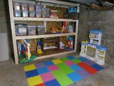 Kids Playroom In Basement unfinished basement playroom ideas-i am using several of these