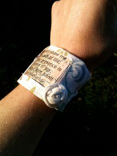 Love this! I'm trying to memorize scripture daily. I could stap The Word to my body!! Wear it till I get it! Scripture bracelet on Etsy! $8