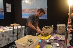 Sur le stand de Les Coquillages du Phare de l'Ile Wrac'h, vous pouviez déguster de délicieuses huîtres.