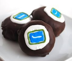 Want to learn how to make these puck bites? Vancouver Canucks, Cavities, Mini Cakes, Good Food, Fun Food, No Bake Desserts, Allrecipes, Cake Pops, Baked Goods