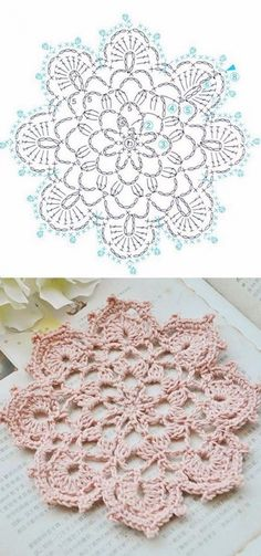 Free Crochet Doily Patterns, Crochet Motif, Crochet Doilies, Crochet Flowers, Crochet Lace, Crochet Stitches, Knitting Patterns, Doily Art, Crochet Blouse