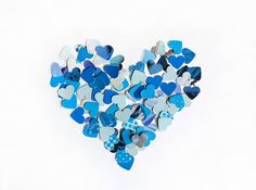 100 little hearts punches in blue shades by VeraPaperLab on Etsy, €1.90