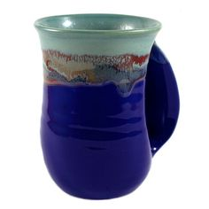 Sip your delicious beverage with Clay in Motion Mystic Water Handwarmer Mug. Made with lead-free clay in Milton Freewater, Oregon. Coffee Cup Warmer, Mug Warmer, Large Coffee Mugs, Coffee Cups, Clay Mugs, Ceramic Mugs, Minnie Mouse Mug, Pottery Gifts, Creative Coffee