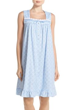 Free shipping and returns on Eileen West Sleeveless Print Cotton Nightgown at Nordstrom.com. XS Cotton Nighties, Flannel Nightgown, New Blouse Designs, Queen Outfit, Relaxed Outfit, Nightgowns For Women, House Dress, Princess Wedding Dresses, Fashion Night