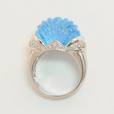 Lot # 16: Diamond & Carved Topaz Ring. *NO RESERVE* Gold Rush Pays Auction Rodeo: July 30th at 2pm EST