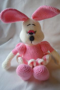 Amigurumi bunny Rose crochet toy